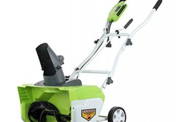 Greenworks 26032 12 Amp 20 Inch Corded Snow Thrower Electric Snow Shovel Electric Snow Blower Snow Blower