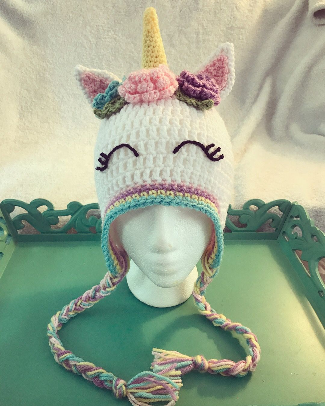 Crochet Unicorn Hat by Elise's Pieces #unicorn #crochet # ...