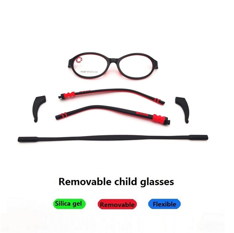 >> Click to Buy << 47-15-131 New children's mirror high-grade TR90 soft silicone frame youth kids removable Silica gel eyeglasses frame 2267 #Affiliate