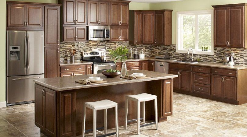 American Classics Hampton Cognac Kitchen Cabinets