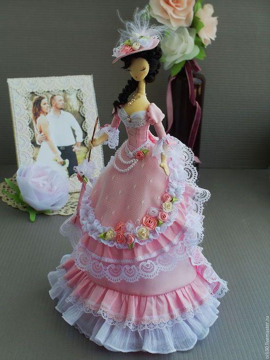 rosa, tryapiensy, tryapiensa, muñeca textil, muñeca interior del interior, una muñeca de tela, muñeca hecha a mano, Barbie textil, vintage Estilo, tryapiensy Corea, muñeca De Colección