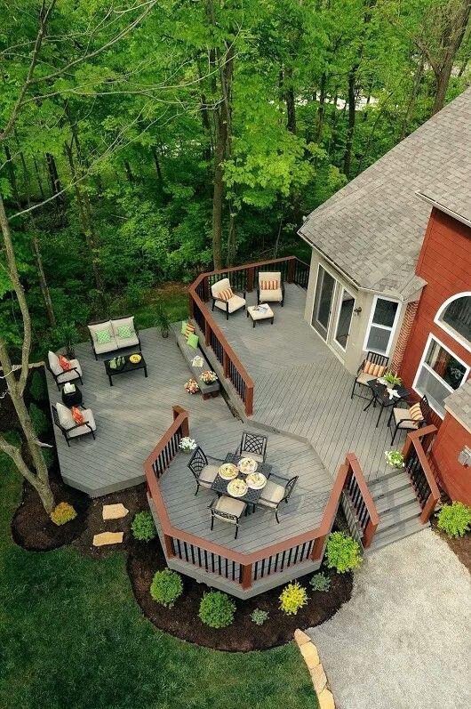 Pin By Janet Hernandez On Garden Cozy Backyard Backyard Decks Backyard