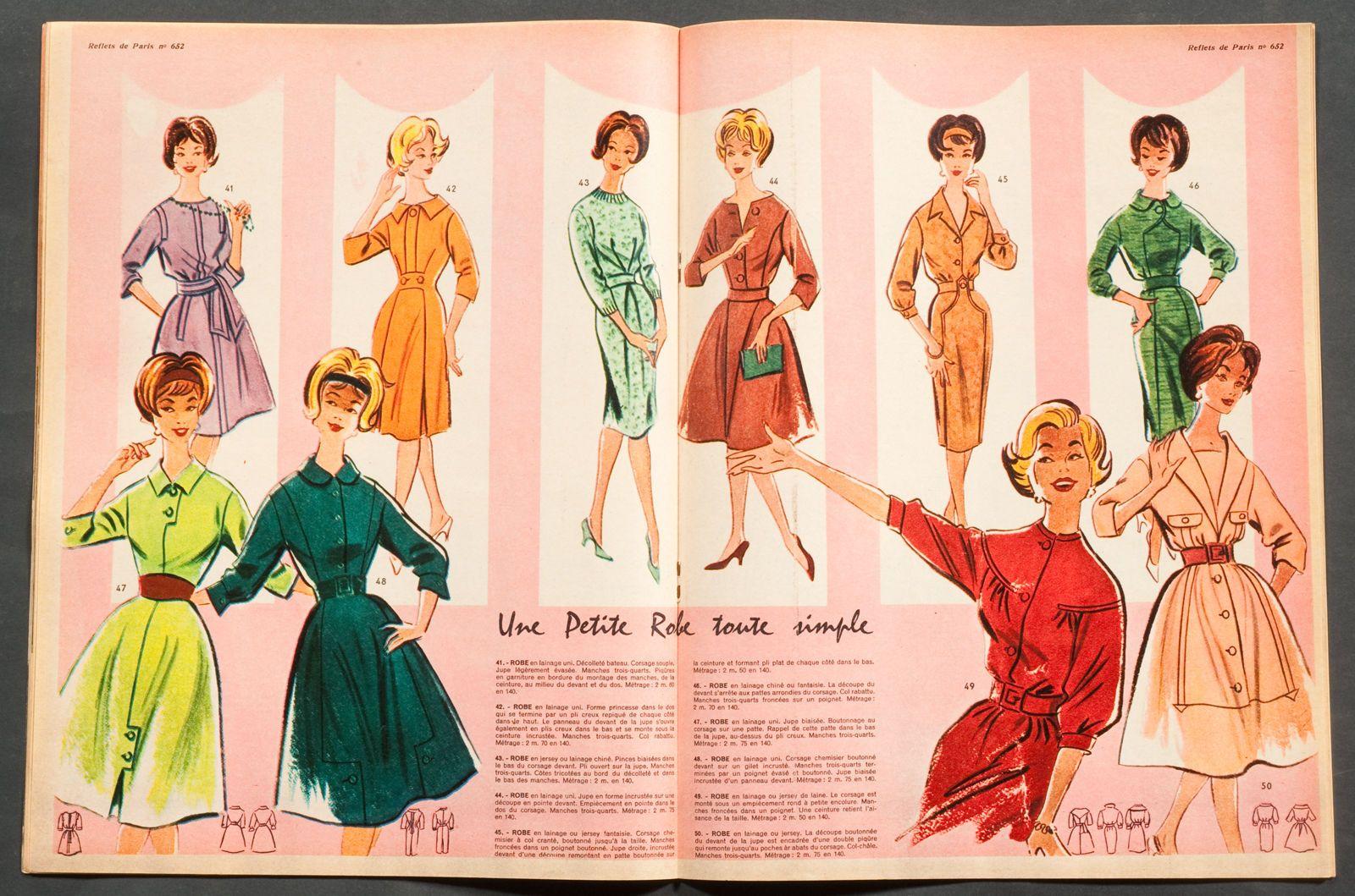 VOTRE MODE-REFLETS DE PARIS  FRENCH MAGAZINE COLLECTION ISSUE 27 AUGUST  1959   eBay 7b808235dc6