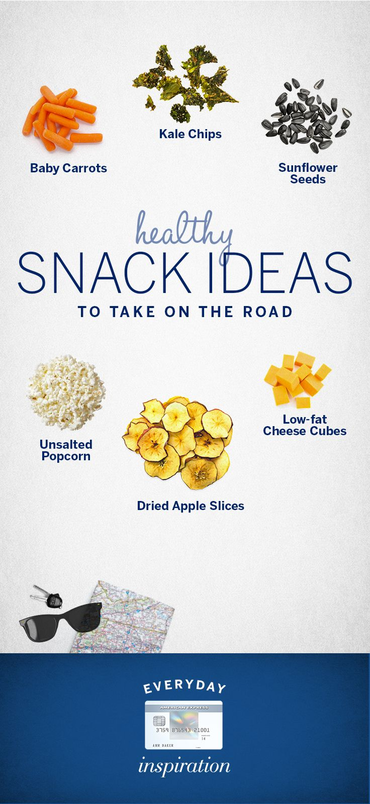 A long car ride doesn't have to mean fast food. Here are 6 healthy snacks even kids will love so you can relax and focus on making #EveryDayMoments
