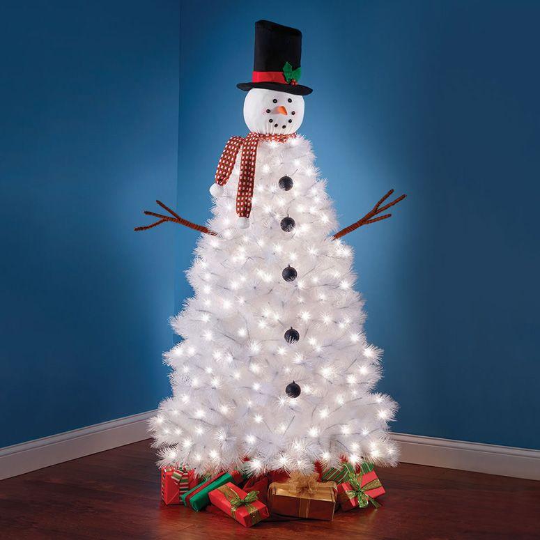 Resultado de imagen de snowman christmas tree ideas Árboles