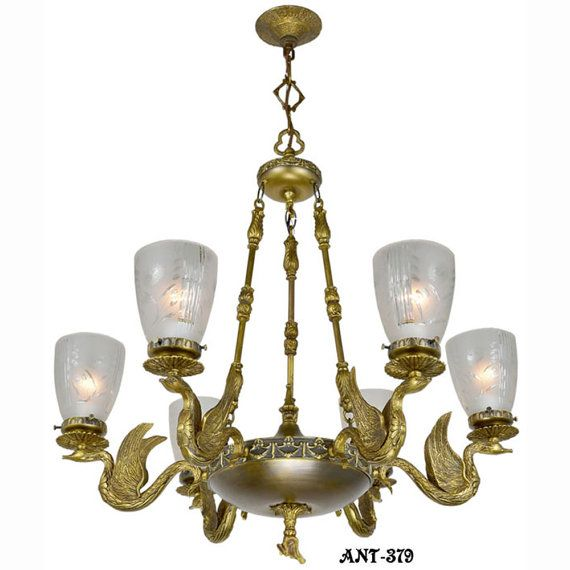 Antique Vintage NeoRococo French Swan Motif by DecoLighting, $1650.00