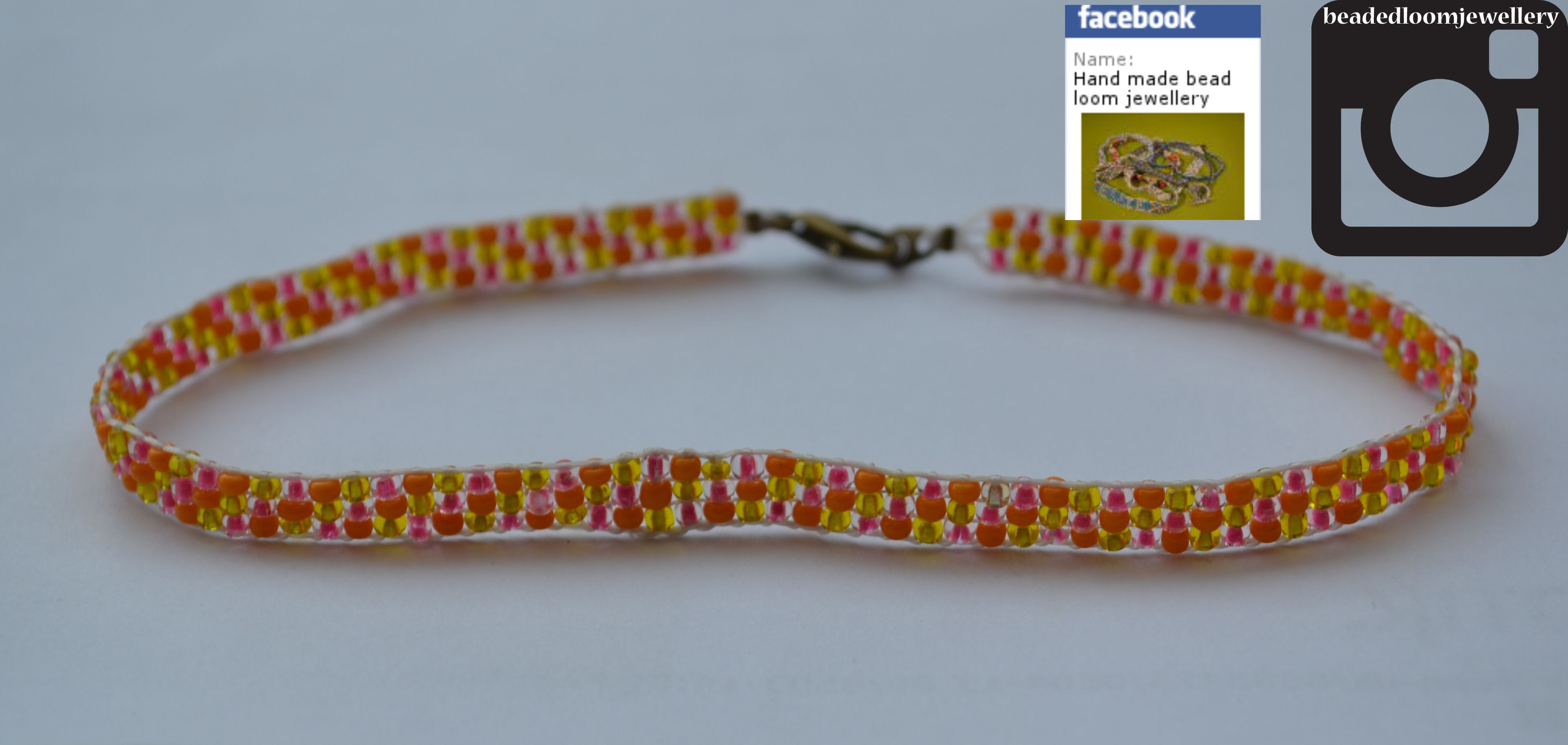 Orange, yellow and hot pink anklet :) #fashion #bracelet #jewellery #buy #handmade