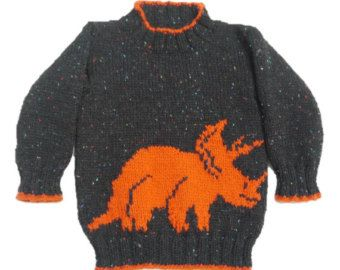 Dinosaur Child S Sweater And Hat Velociraptor Knitting Pattern Dinosaur Sweater And Hat Knitting Pattern Dino Knitting Pattern Kinder Pullover Strickmuster Pullover Baby Pullover Stricken
