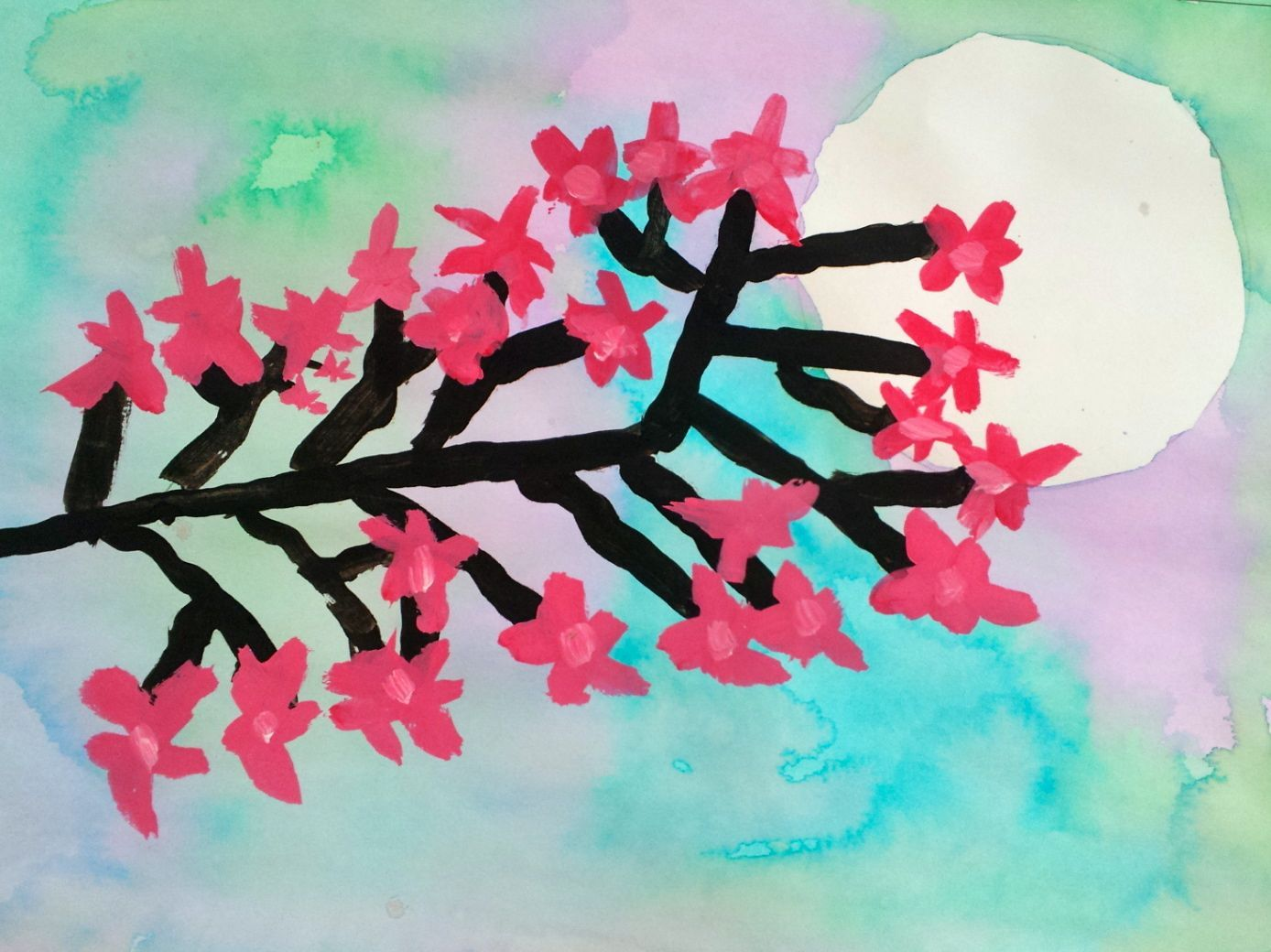 Art With Mrs Nguyen Cherry Blossom Paintings 3rd
