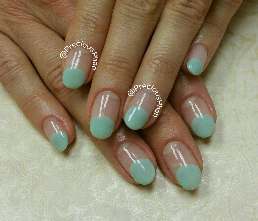 Oval nails. Rounded french nails. #PreciousPhanNails | Precious Phan ...