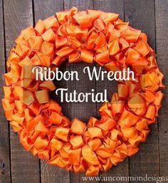 Ribbon Wreath #ribboncrafts