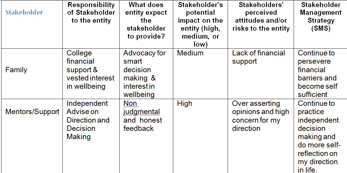 Pin By Michael Howard On Personal Stakeholder Analysis