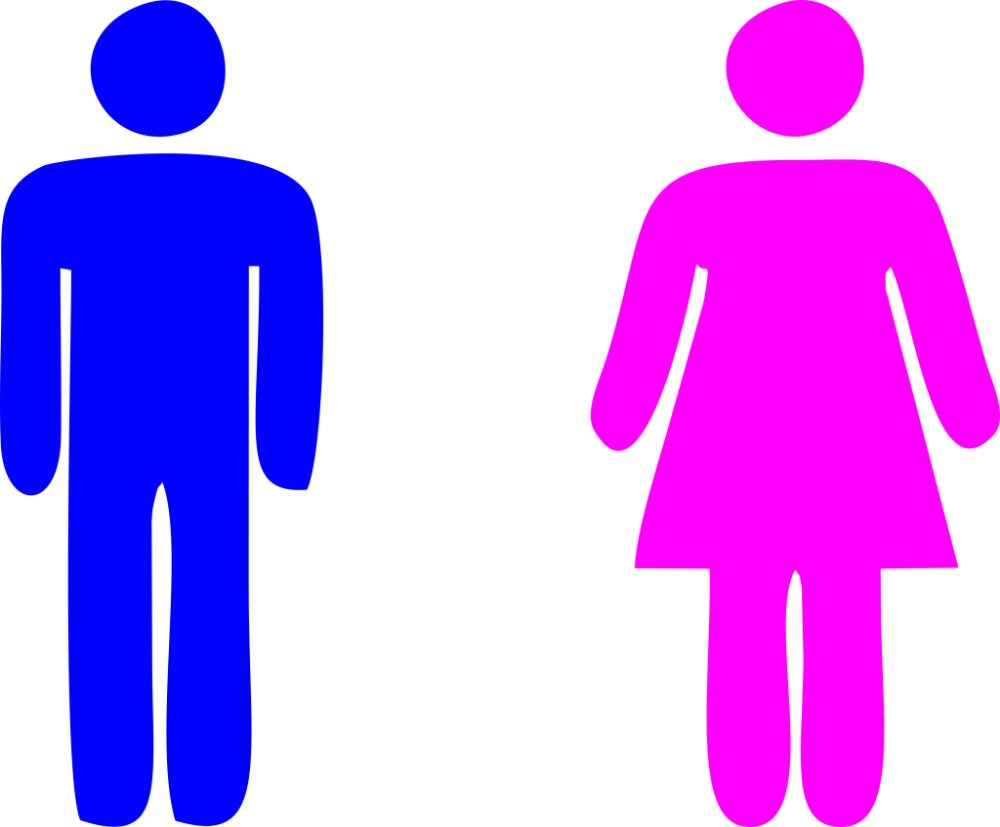 Blue Man Pink Woman Icon Photo Daily Cliparts Iconic Women Blue Man Man Clipart