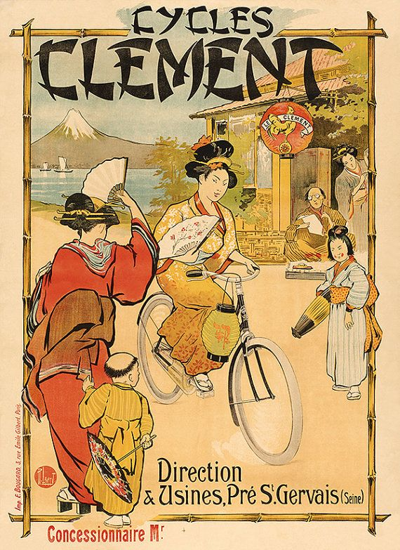 Rouxel /& DuBois 11x17 inch Vintage bicycle advertisement poster//print.