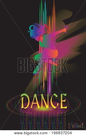 Abstract Dynamic Background For Music Festival Poster Graphic Design