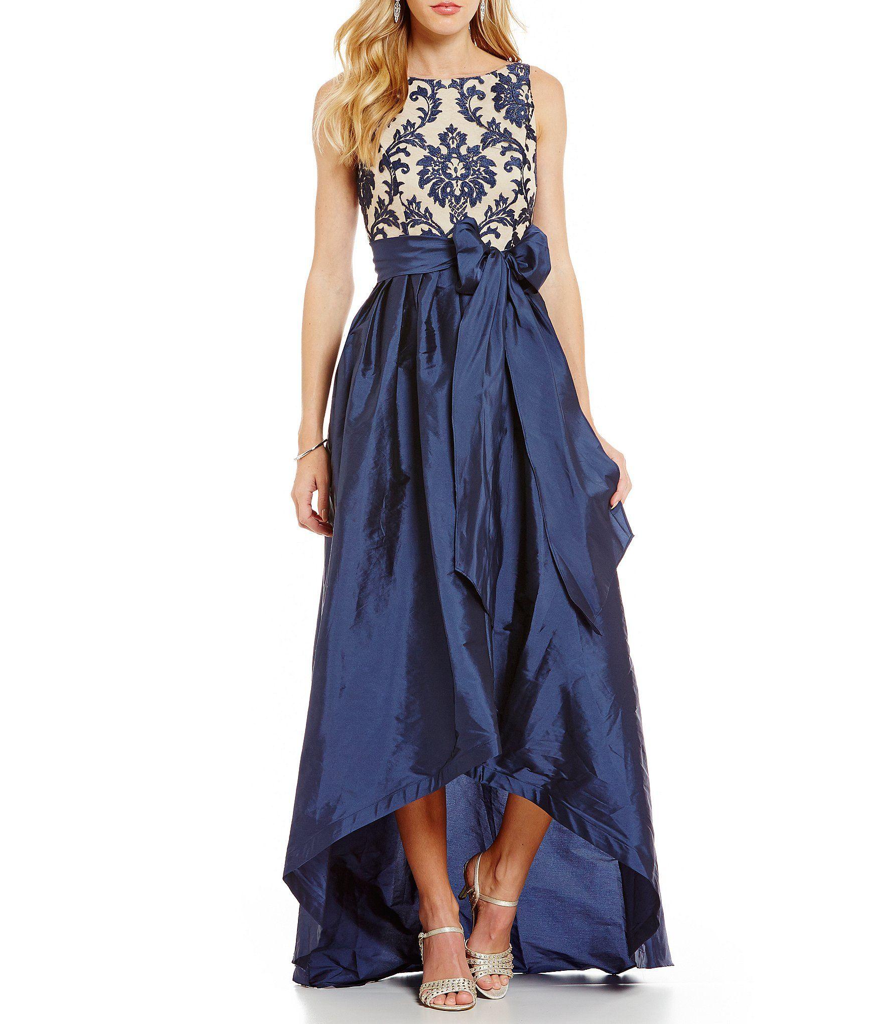 Adrianna Papell Petite Lace Taffeta Hi-Low Gown #Dillards | Get ...