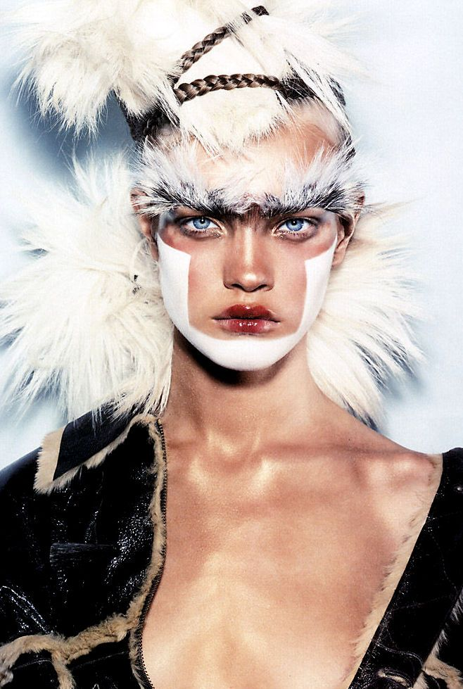 """labsinthe:  """"Chic Savages"""" Natalia Vodianova photographed by Steven Klein for i-D 2002"""