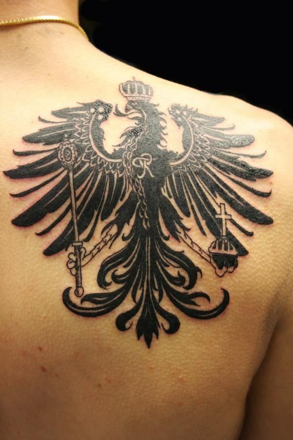 german eagle tattoo | Eagle tattoos, Tattoos, Tribal tattoos