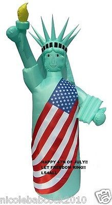 8 Ft Tall Patriotic 4th Of July Statue Of Liberty Airblown Inflatable Yard Decor Liberty