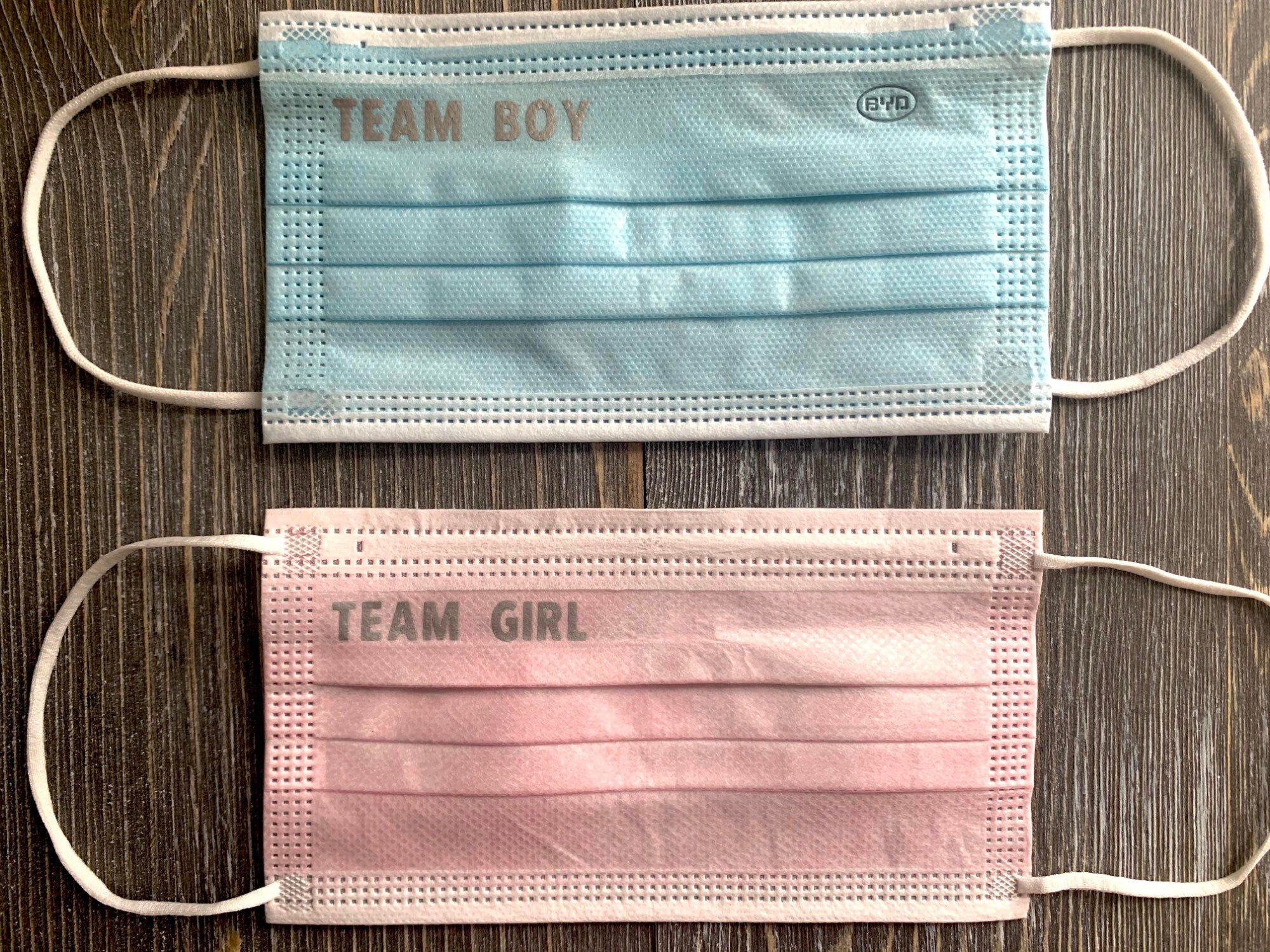 Gender Reveal Ideas, Baby Shower Face Masks, Perso