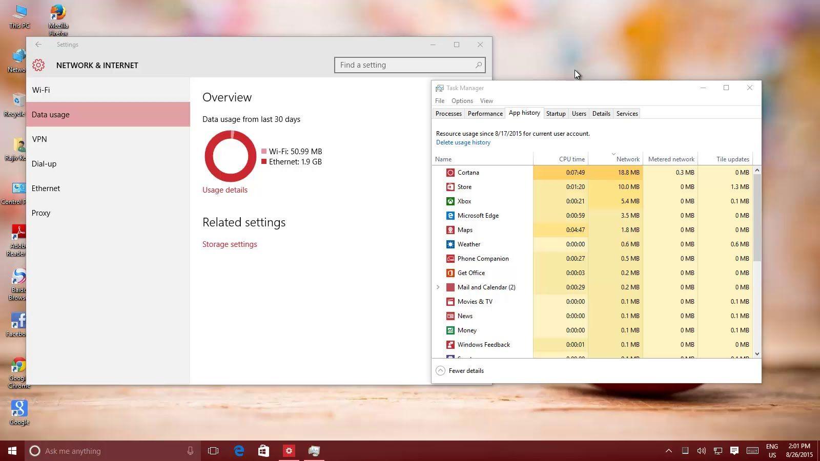 Internet Data Usage App In Windows 10 Windows 10 Tutorials Windows 10 Windows