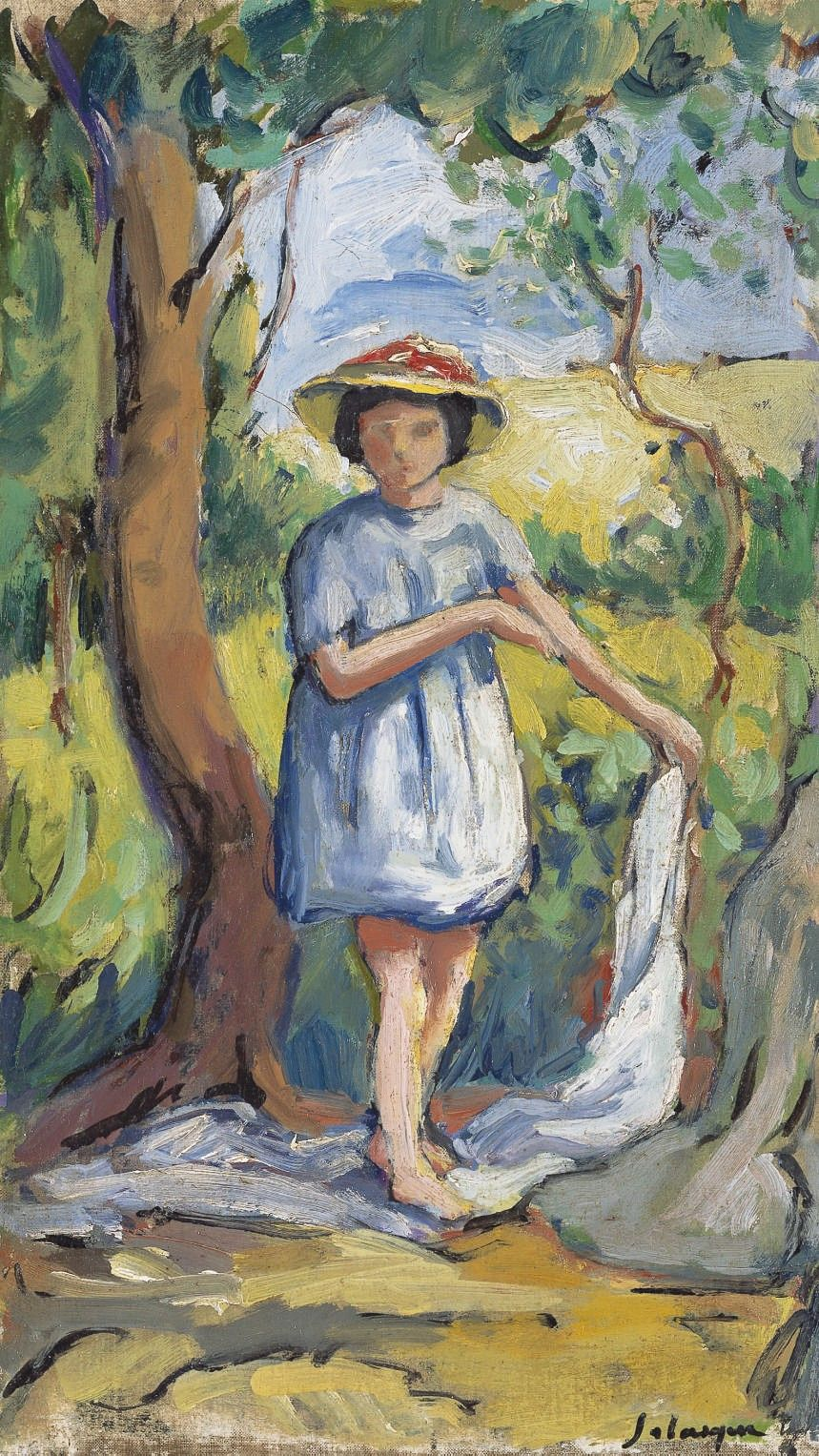 Lawrence Lee Magnuson Henri Lebasque France 1865 1937 Petite Fille Post Impressionists Post Impressionism Lovers Art