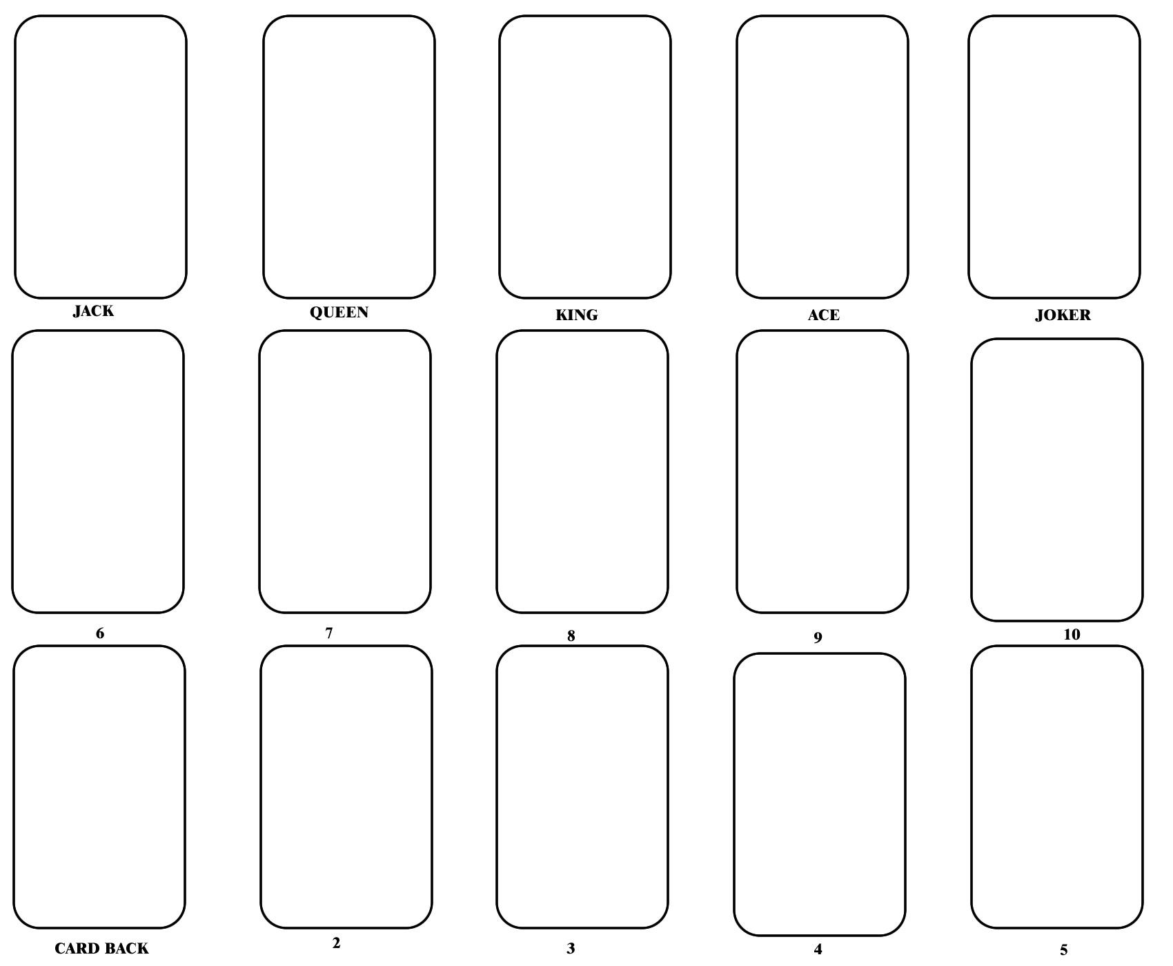 Blank playing card template one day pinterest cards for Blank scorecard template