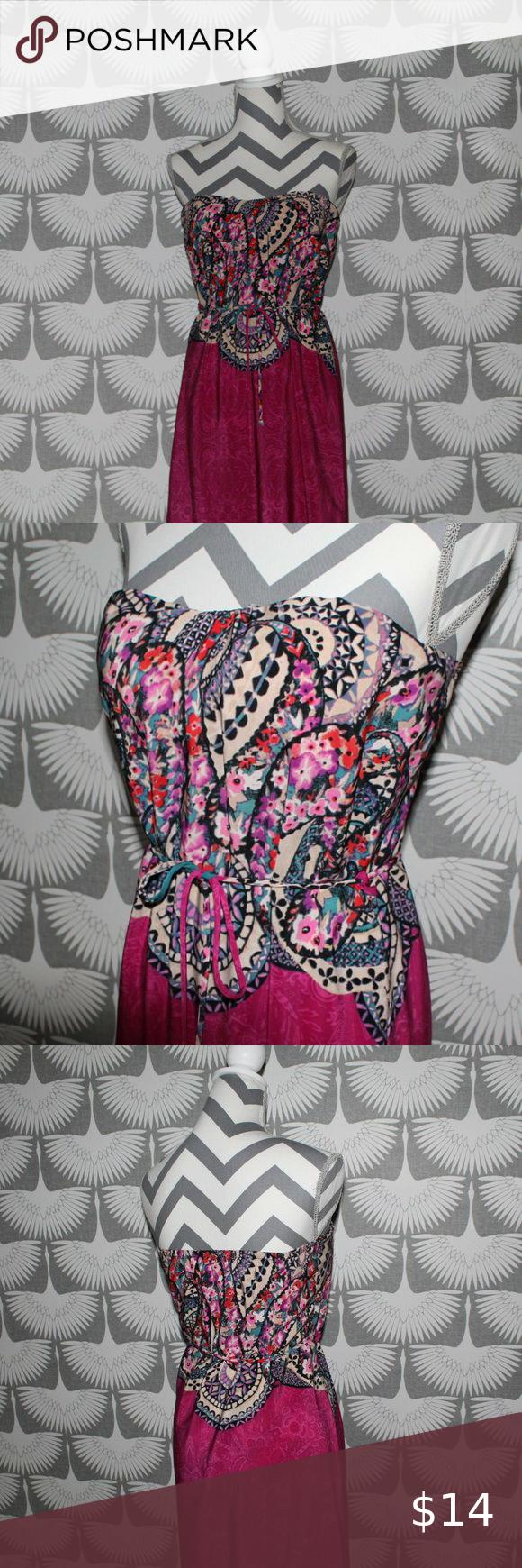 Strapless Boho Maxi Dress S Built In Bra Summer Beautiful Summer Maxi Dress Windsor No Size Tag Is Attached Though Th Boho Maxi Dress Boho Maxi Maxi Dress [ 1740 x 580 Pixel ]