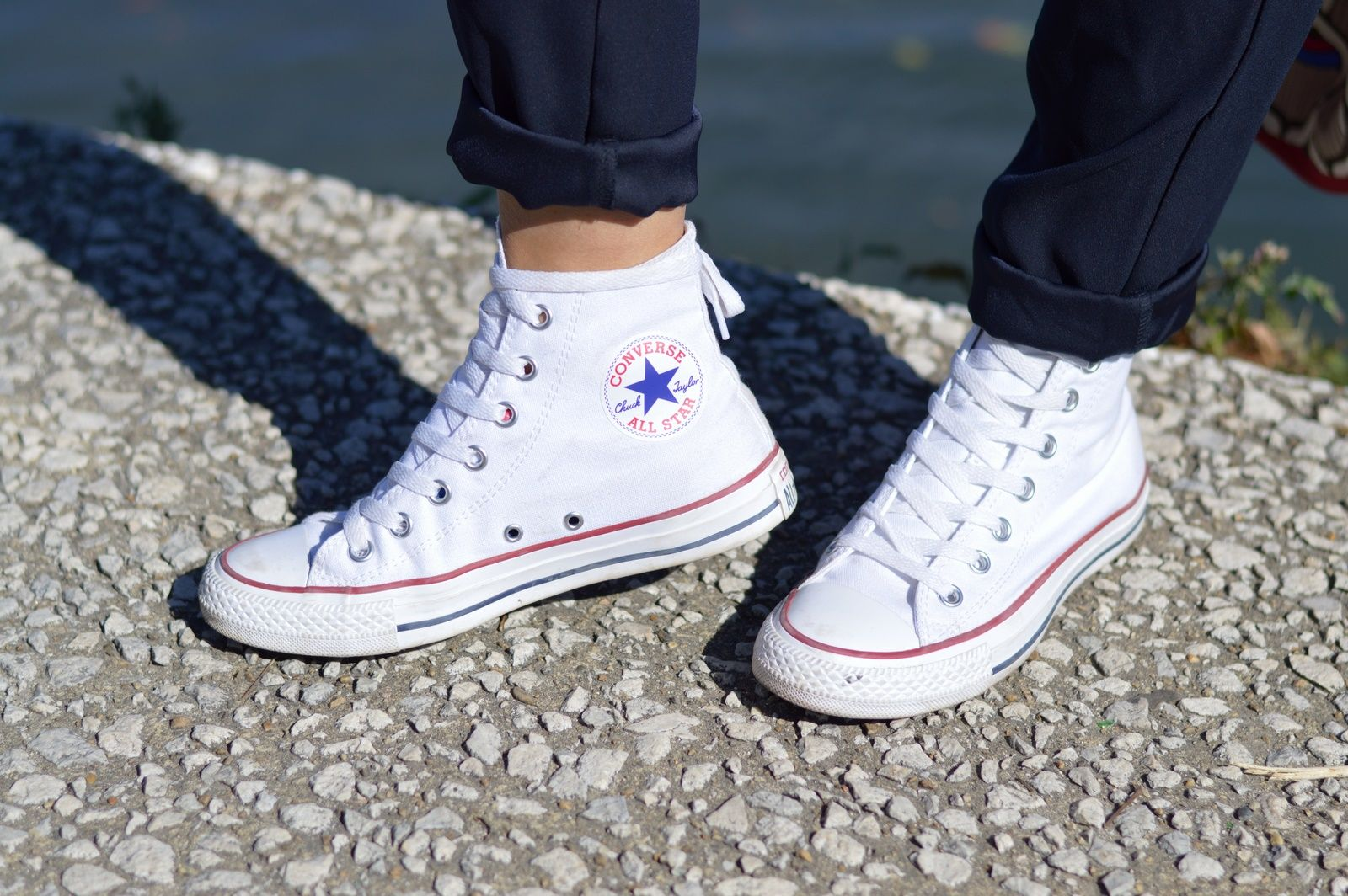 chaussure converse blanche haute