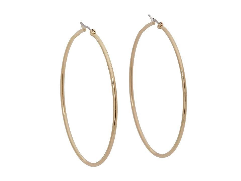 GUESS 84069330 Gold Earring Complete your look with these sleek GUESS earrings Gold tone hoops Snapbar closure Imported Measurements Diameter 2 in Weight 01 oz