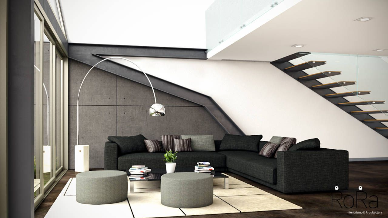 Salones de estilo moderno de LA RORA Interiorismo & Arquitectura