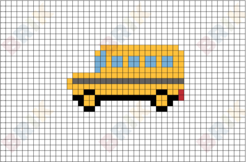 Bus Pixel Art Pixel Art 8 Bit Art Art
