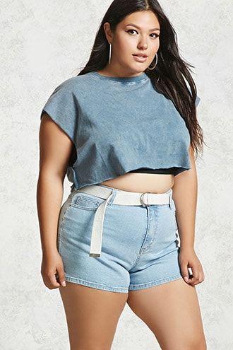 Plus Size Denim Shorts | Products in 2019 | Women\'s plus ...