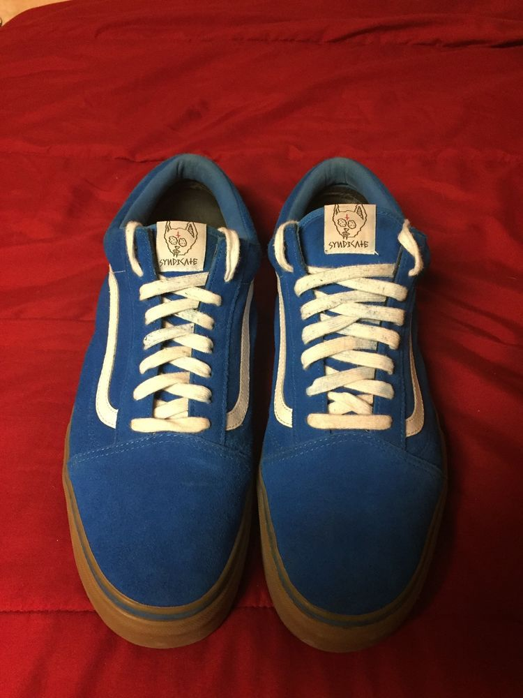 67fd1cd224 Syndicate Golf wang blue Old Skool Vans Gum sole size 13 VNDS supreme   1