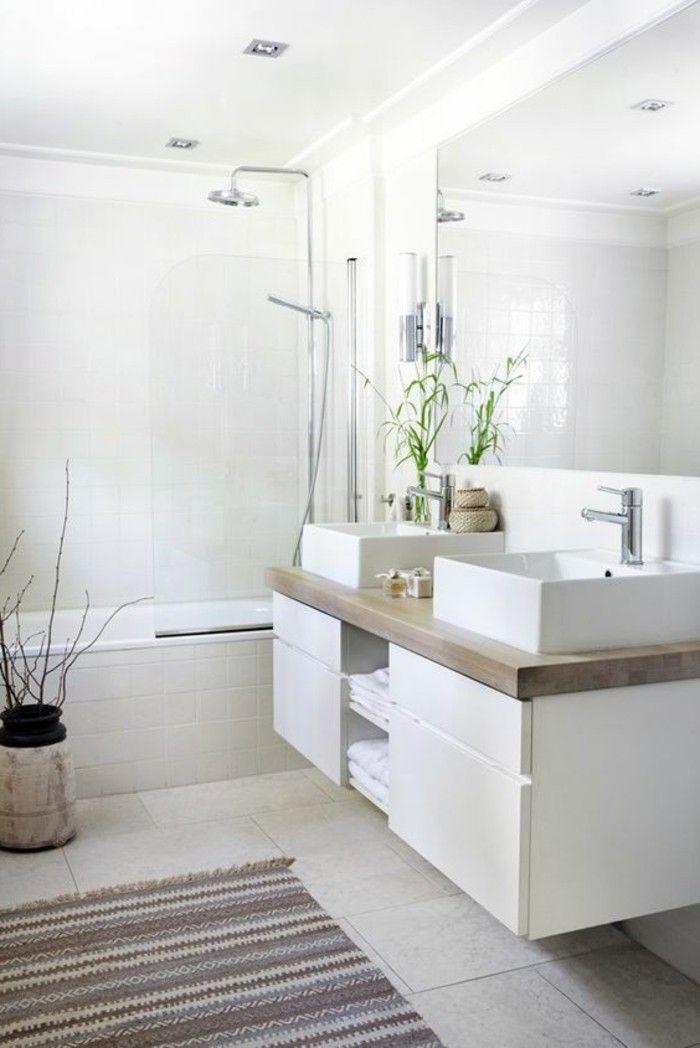 Perfekt Badgestaltung Ideen Bader Ideen Badezimmer In Weis Mit Retro Badteppich