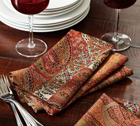 Florentine Paisley Napkins Set Of 4 Pottery Barn