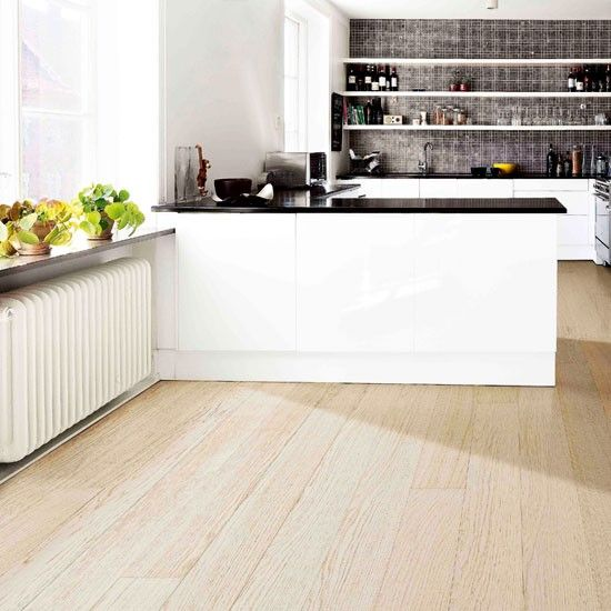 White Kitchen Oak Floor wooden kitchen flooring ideas. zamp.co