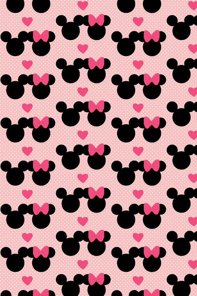 MINNIE MOUSE AND MICKEY MOUSE, IPHONE WALLPAPER BACKGROUND
