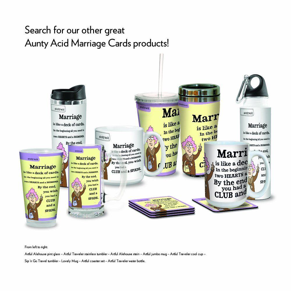 Amazon.com: Tree-Free Greetings XM27817 Aunty Acid Artful Jumbo Mug ...