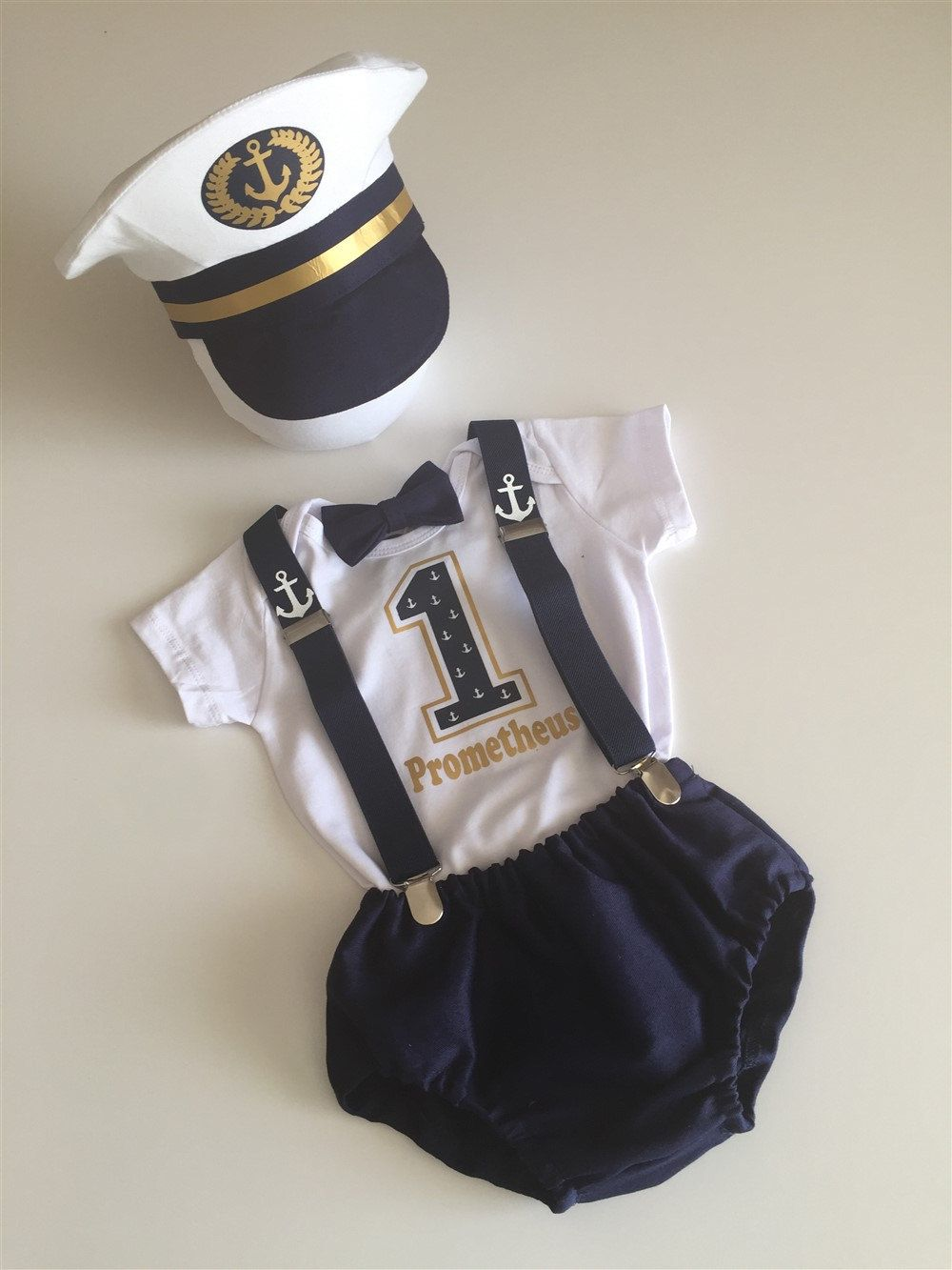 1st Birthday Outfit Boy, Baby Boy Blue 1st Birthday Outfit, Elite Ship Captain, Cake Smash Outfit, Cake Smash Prop, Baby Sailor, Sailor Boy #boybirthdayparties