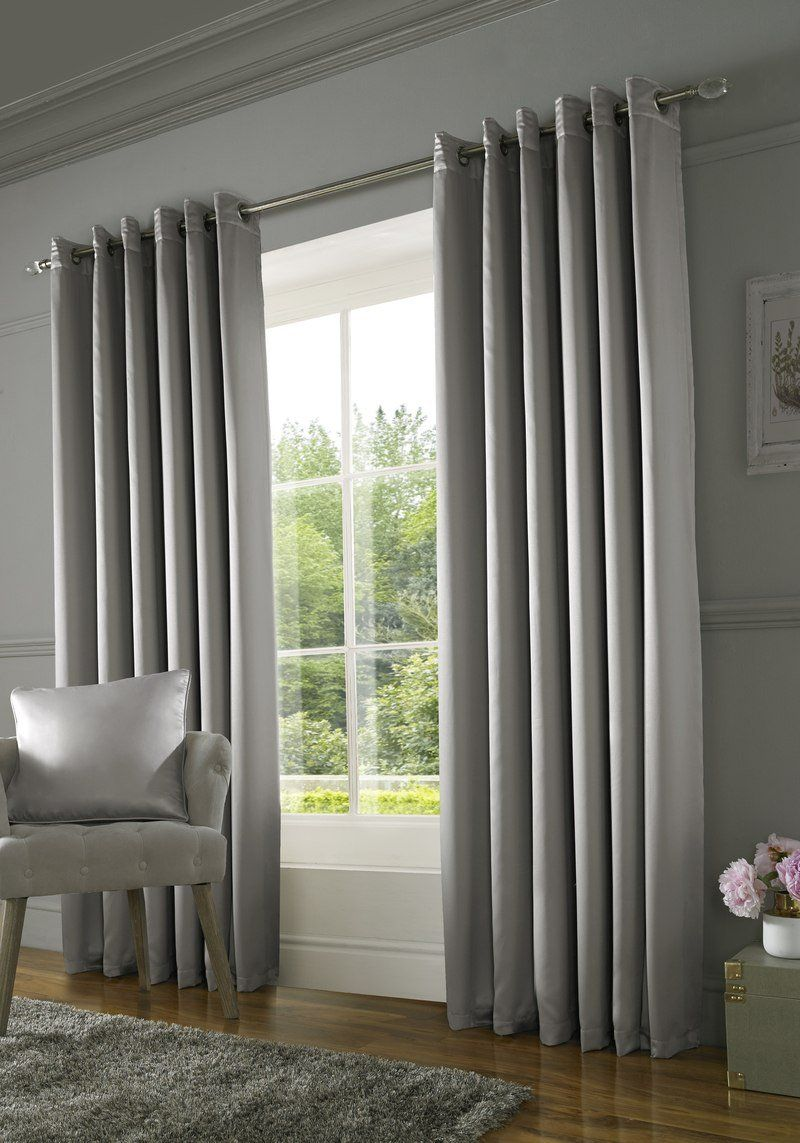 Burj Ready Made Lined Curtains Silver Cream Curtains Curtains Living Room Thermal Curtains