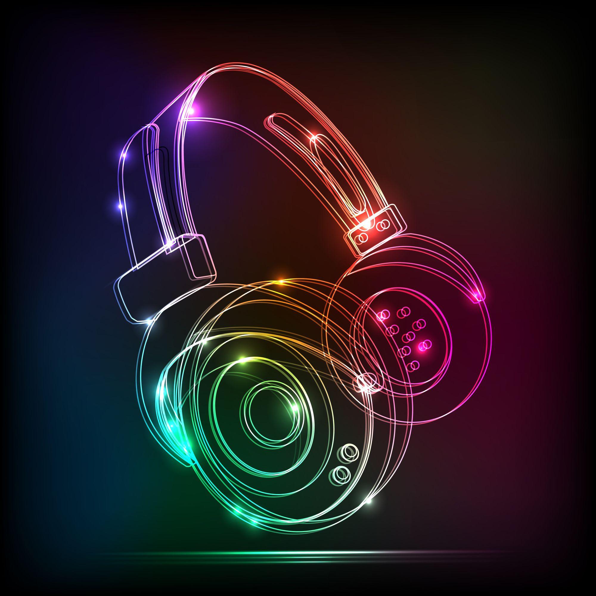 Cool Headphone | Fondo de pantalla musical, Logo de dj ...