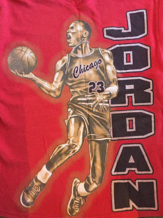 c9d2770d779033 Vintage 1990s Michael Jordan Shirt Epic Graphic Rare Retro 23 Chicago Bulls  NBA Jersey Basketball Air Jordan Long Sleeve Thermal 3X Large