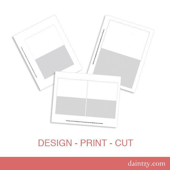 notecard printable template