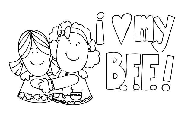 I Love My Best Friends Coloring Pages