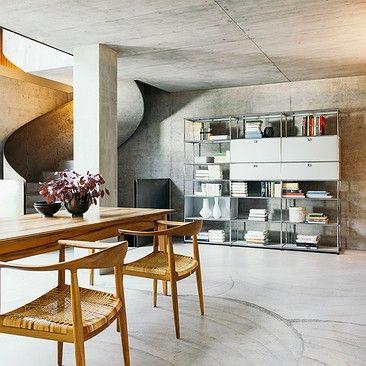 klassisches und zugleich modernes wohnen das usm m bel versteht sich hier als verbindendes. Black Bedroom Furniture Sets. Home Design Ideas