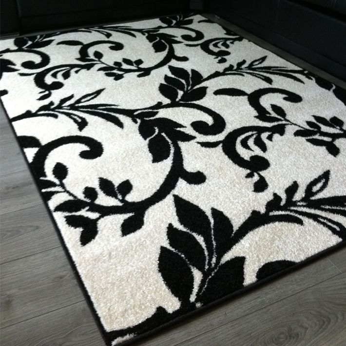 tapis noir et blanc ruben 79 tapis pinterest design. Black Bedroom Furniture Sets. Home Design Ideas