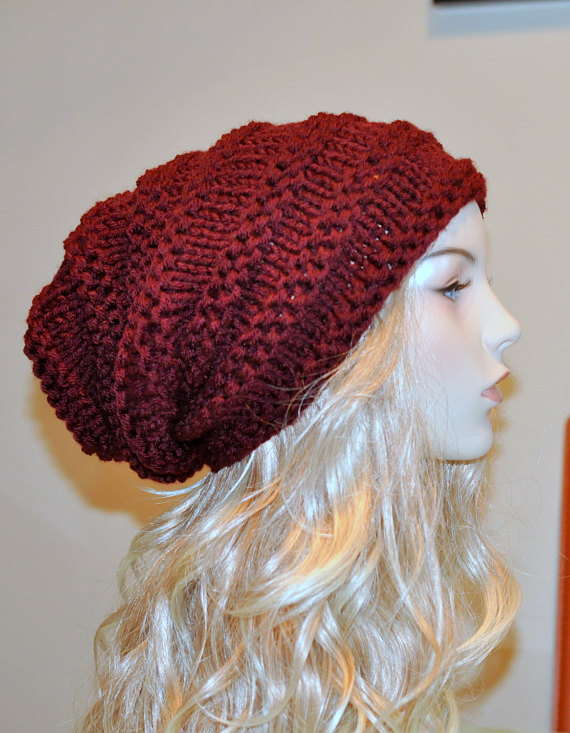 Slouchy Hat women Slouchy Beanie Baggy Hat Knit chunky ...