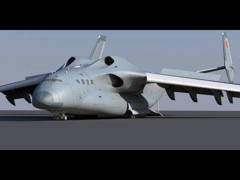 Chinese Plaaf Futuristic Super Transporter Large Military Transport Air Military Aircraft Aircraft Aircraft Design