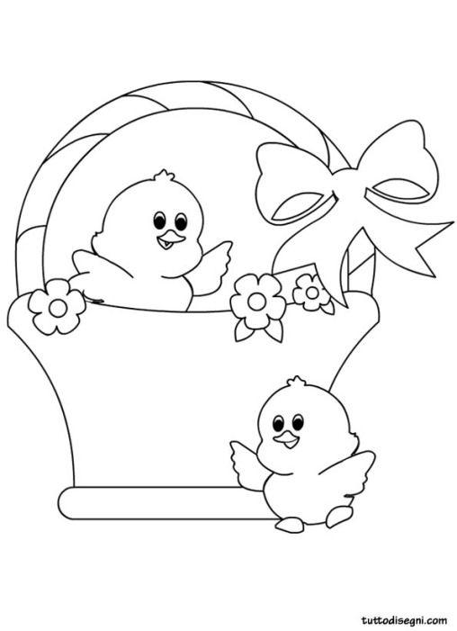 Disegni Pasqua Pulcini Pasqua Idee Pasquali Disegni Da Colorare